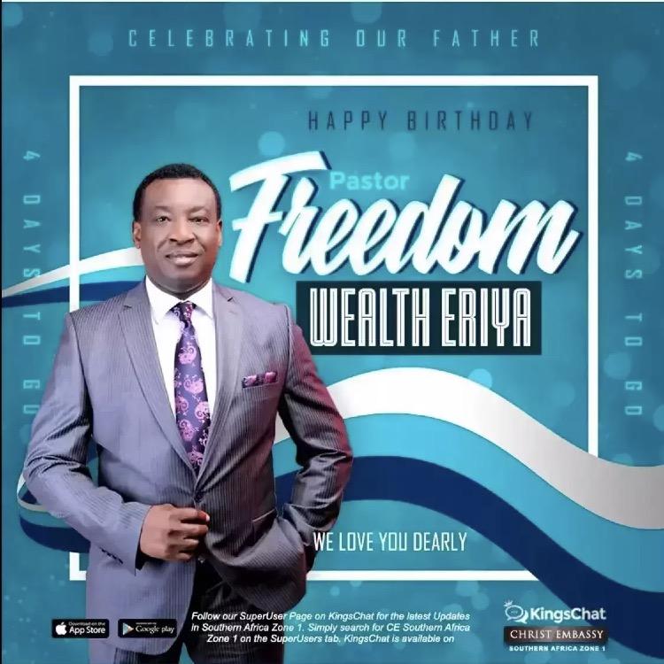 Happy Birthday Pastor sir, thank