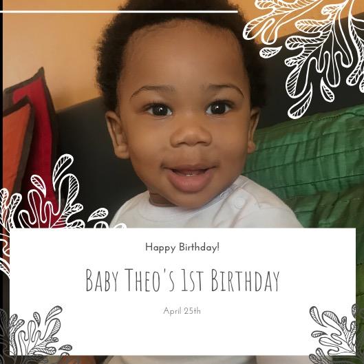 Happy 1st birthday to my