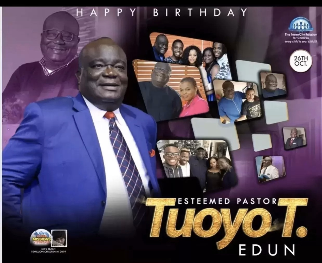 Happy birthday Pastor TT sir.