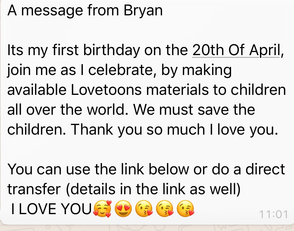 A Message from Bryan 😘❤️😍😘🥰🥰💃💃