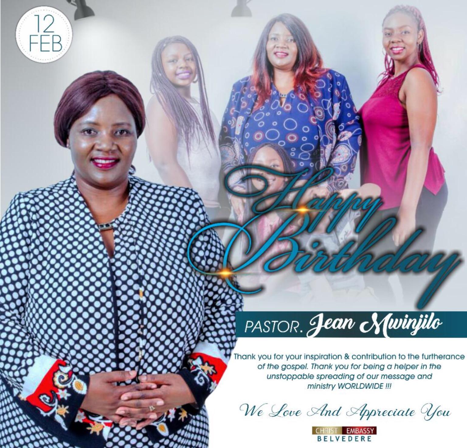 Happy Birthday Pastor Jean Mwinjilo!