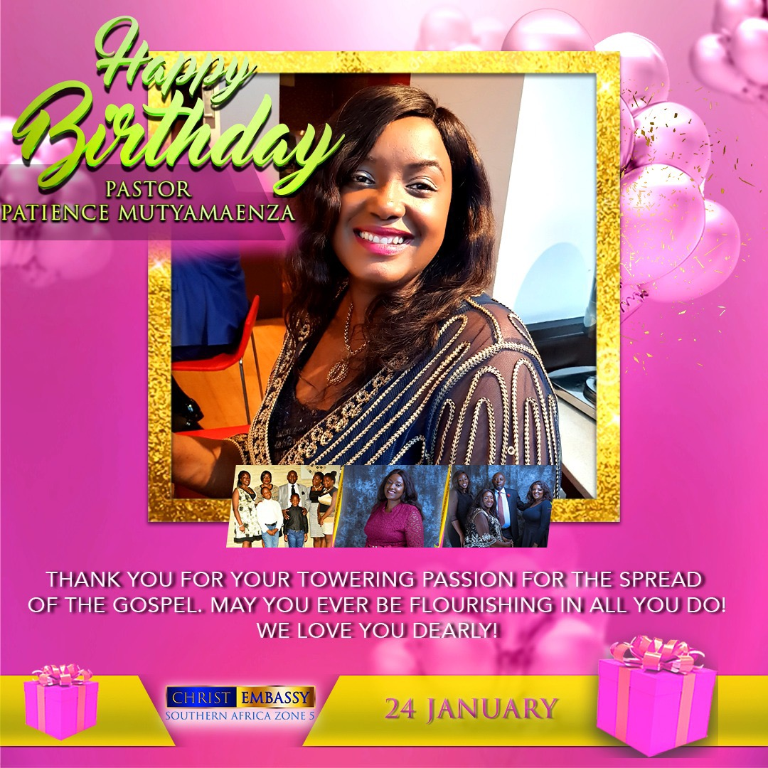 Happiest Birthday Pastor Patience Mutyamaenza,