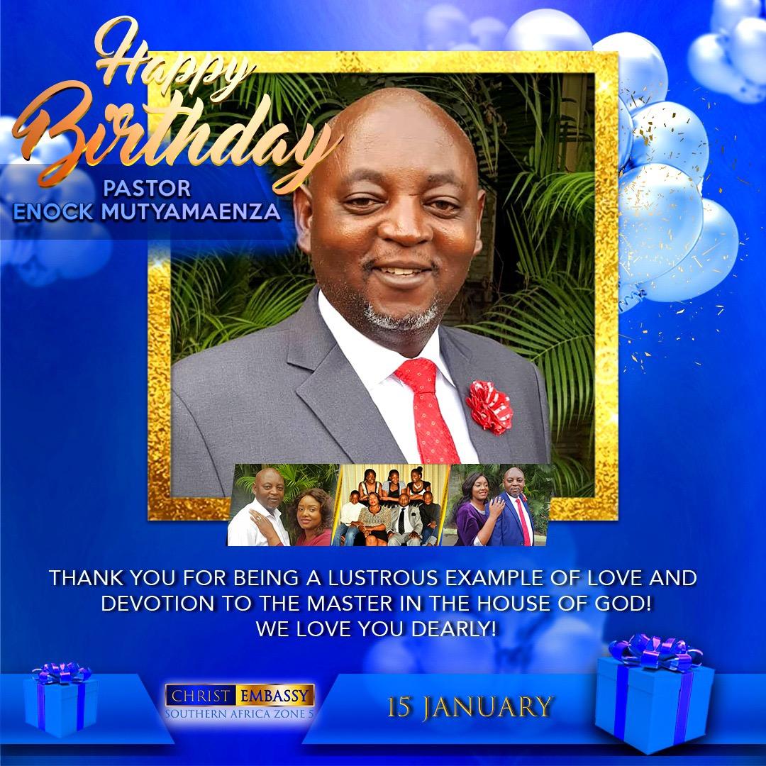 Happy Birthday Pastor Enock! Thank