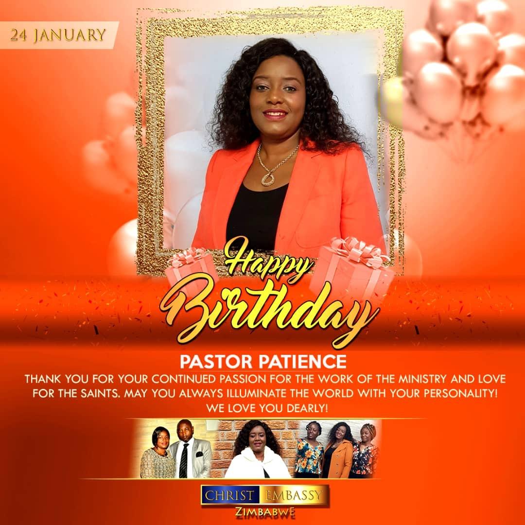 Happy Birthday Pastor Patience! Thanks