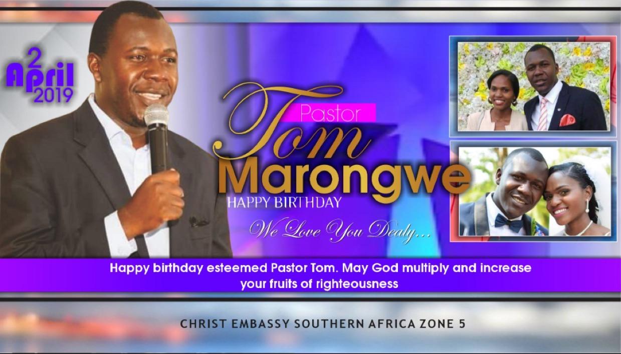 Happy Birthday Pastor Tom! Thanks