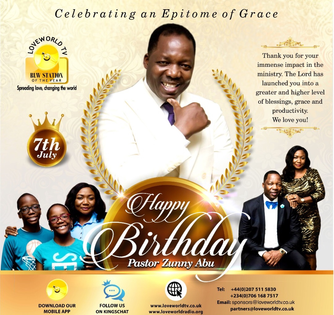 Happy Birthday Esteemed Pastor Zunny!