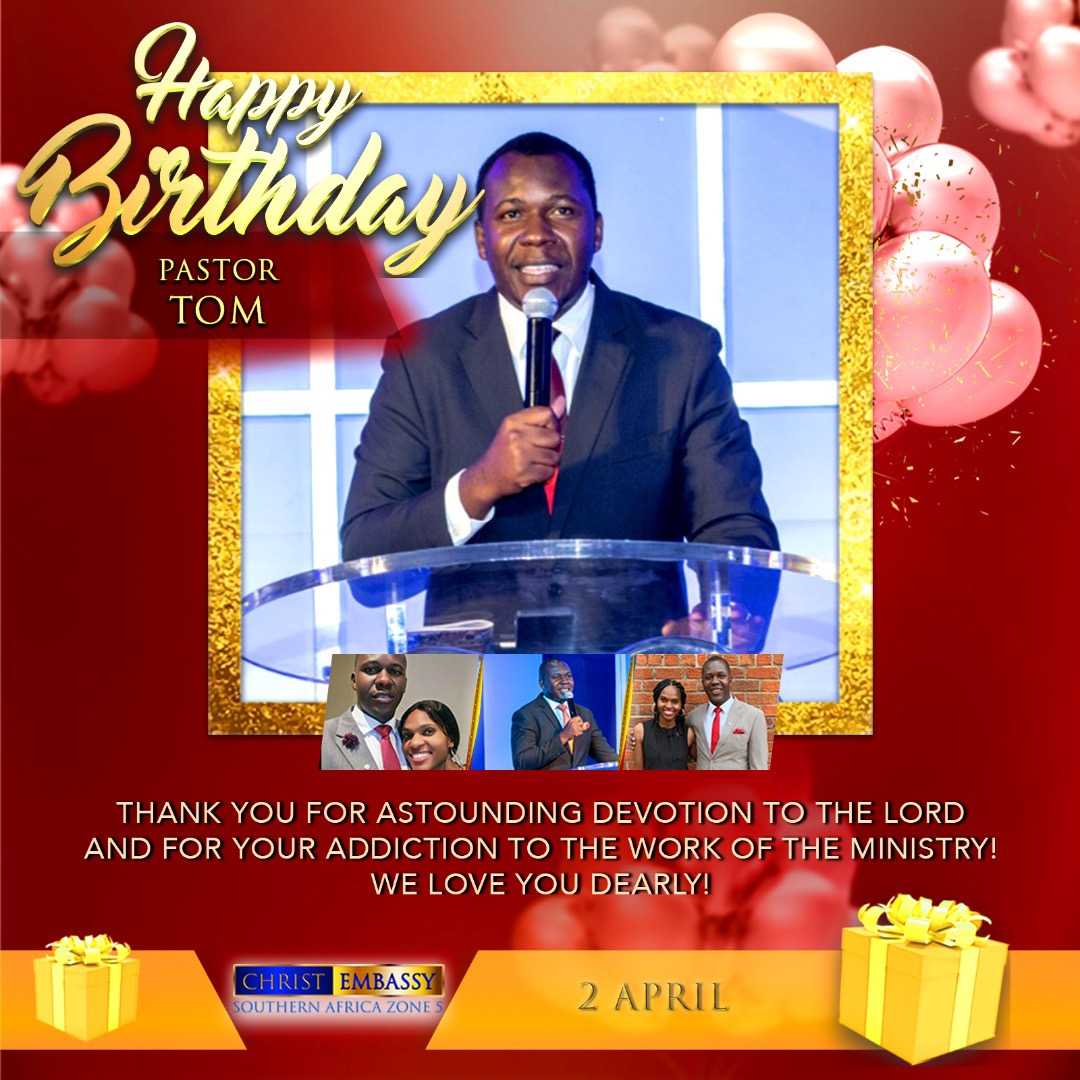 Happiest Birthday Pastor Tom, thank