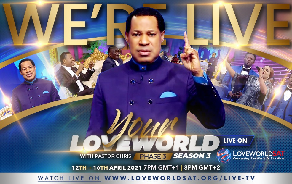 Your Loveworld Specials Live Now!
