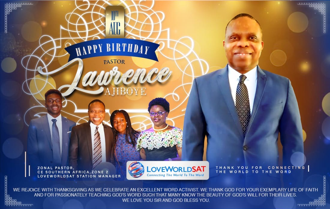 CELEBRATING THE ESTEEMED PASTOR LAWRENCE