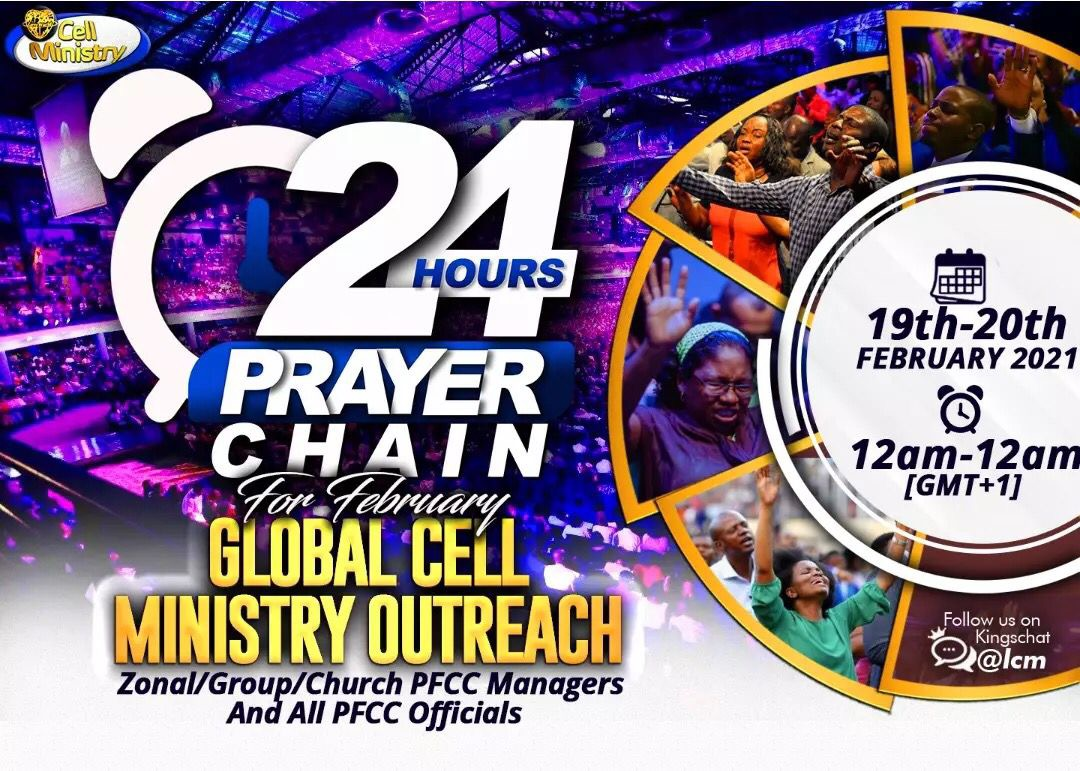 24 HOUR PRAYER CHAIN FOR