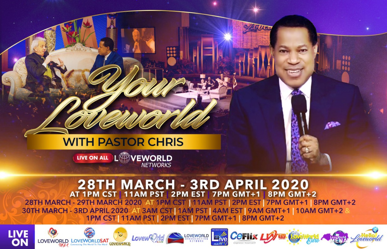 LIVE NOW: Your Loveworld Tune