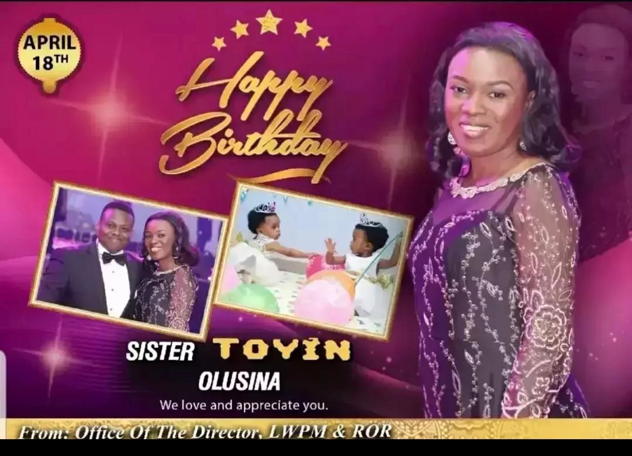Happy birthday Sis Toyin God