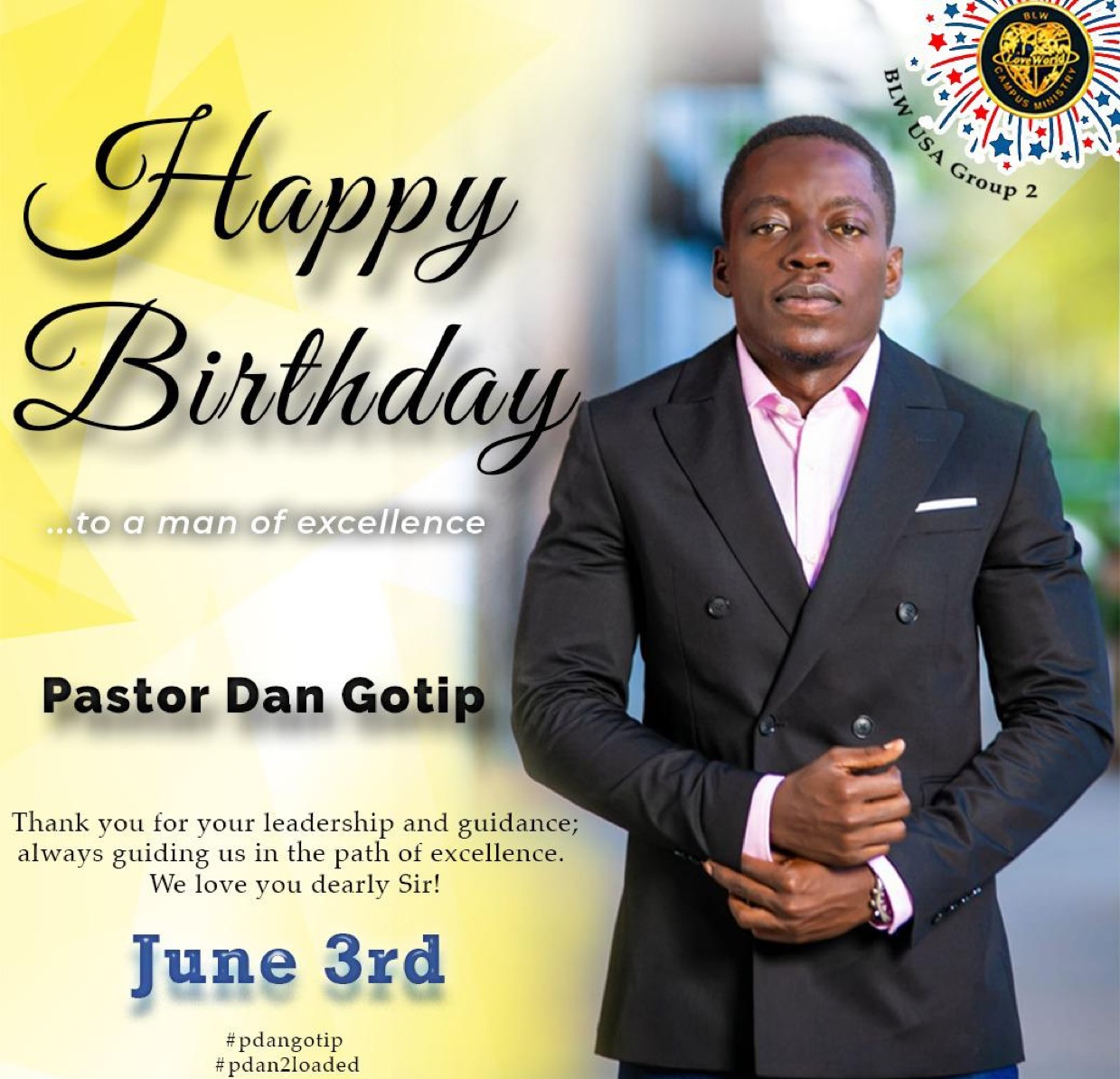 Still celebrating you Pastor !!!!