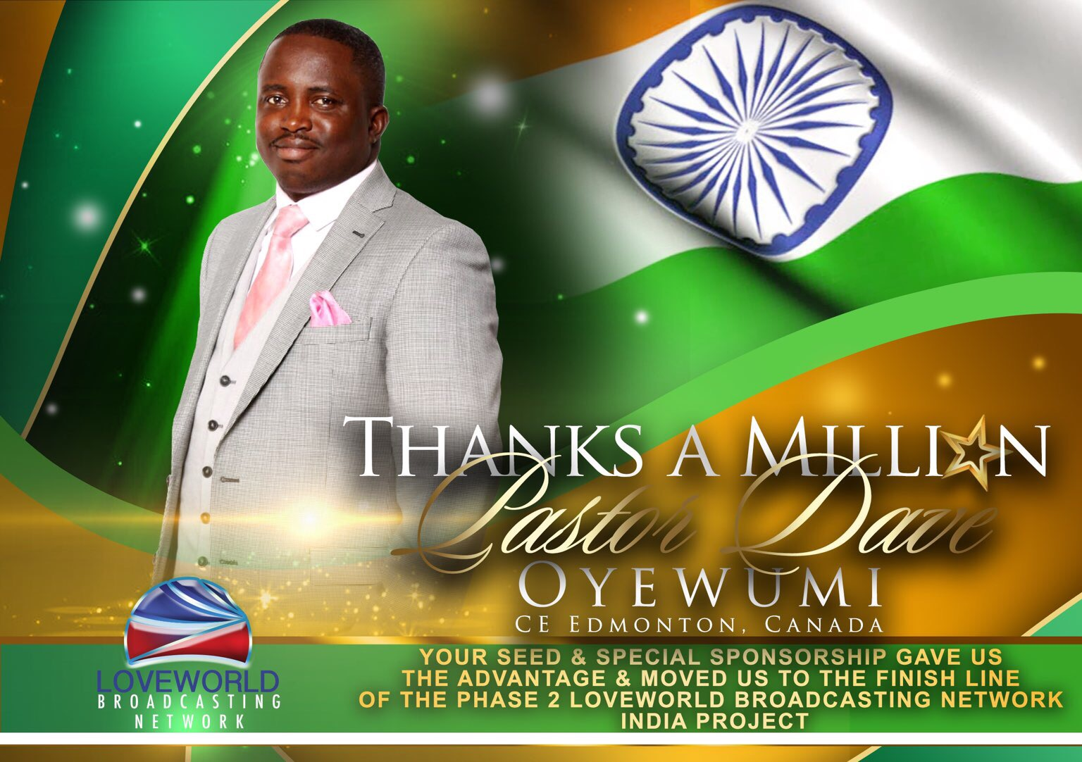 We give thanks for our