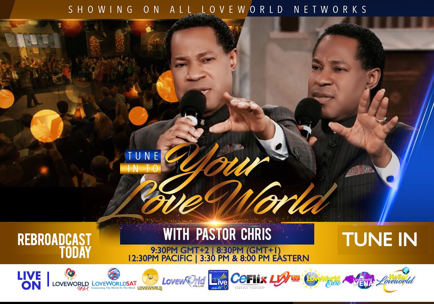 YOUR LOVEWORLD UPDATED REBROADCAST SCHEDULE!
