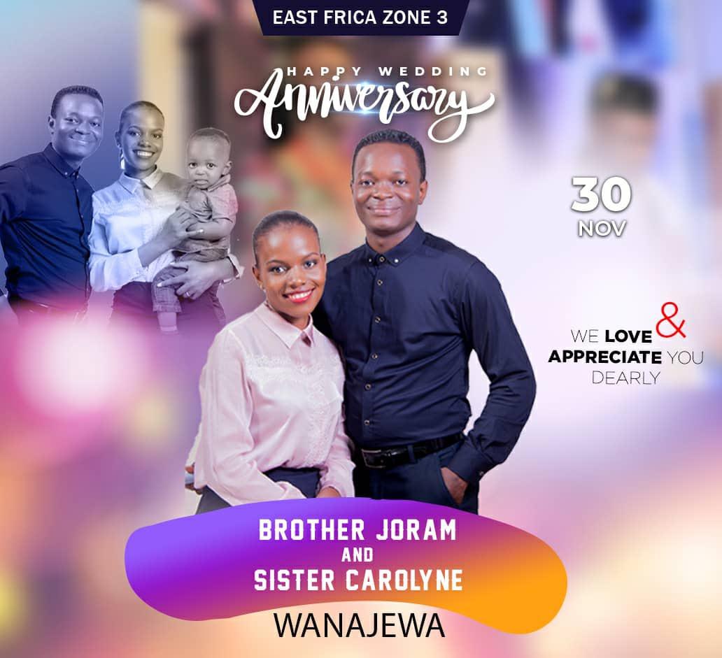 Happy Wedding Anniversary Brother Joram