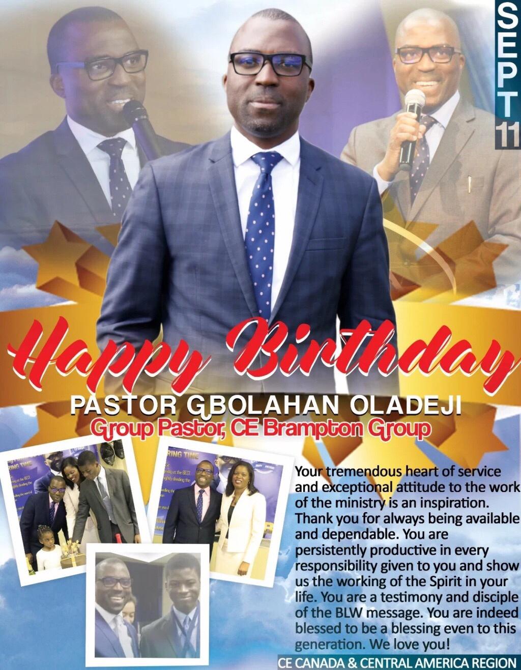 Happy Birthday Pastor Sir! I