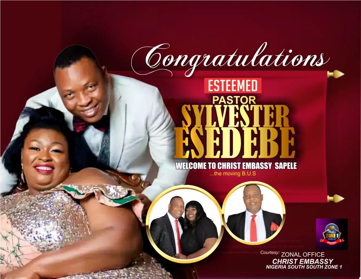 Welcome dear Pastors Sylvester and