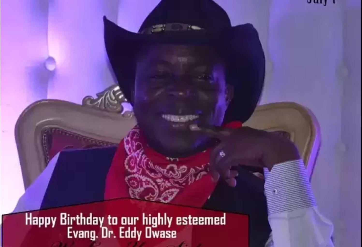 Happy Bday Highly Esteemed Evang