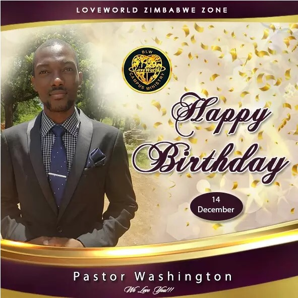 "Happy Birthday Pastor Washington, ""The"