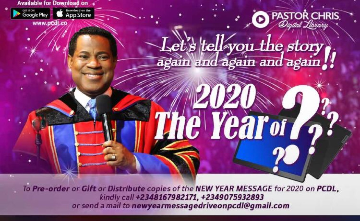 👌👌👌THE 2020 NEW YEAR MESSAGE