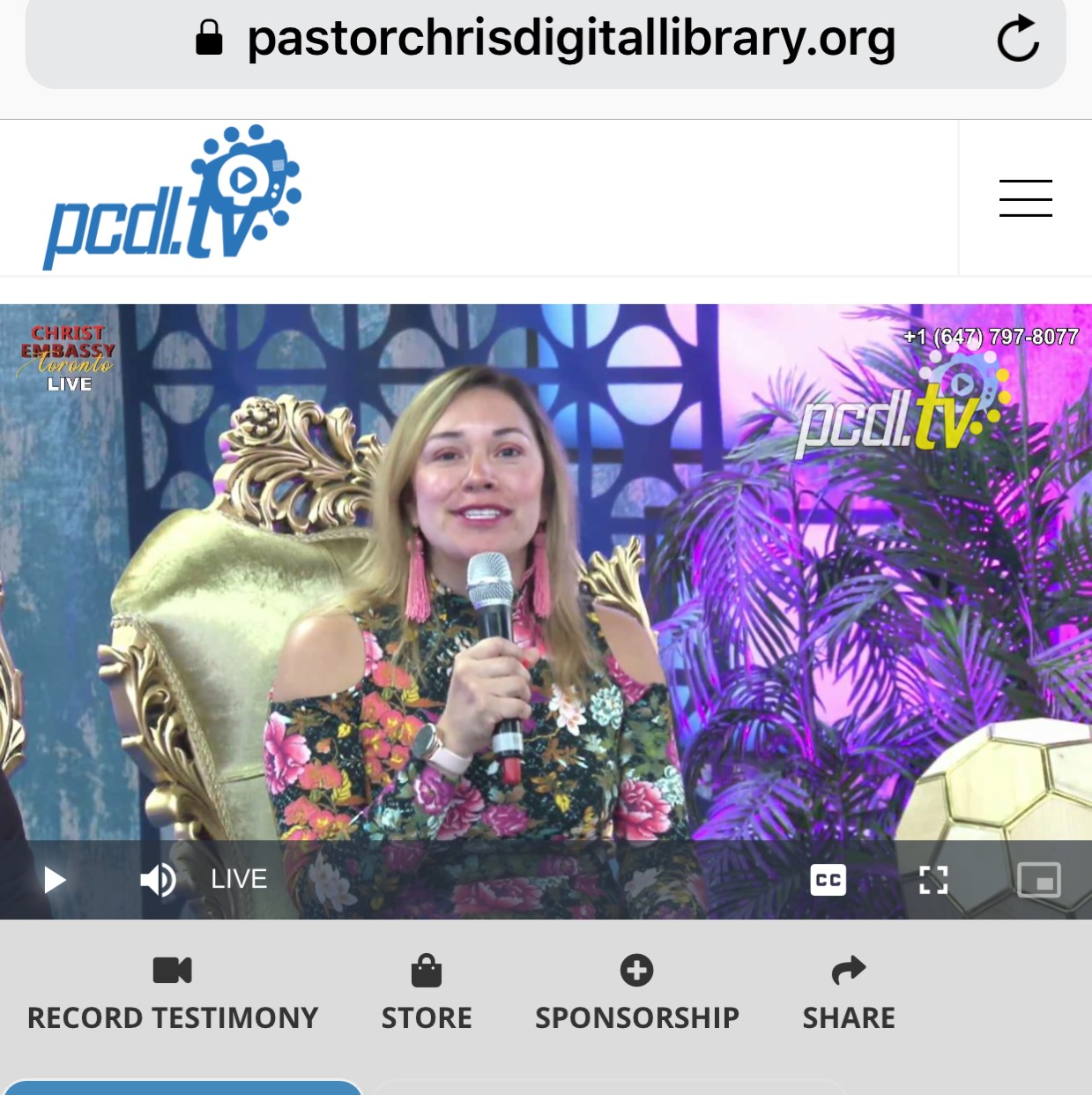 #PCDLUASC ...LIVE NOW FROM CANADA