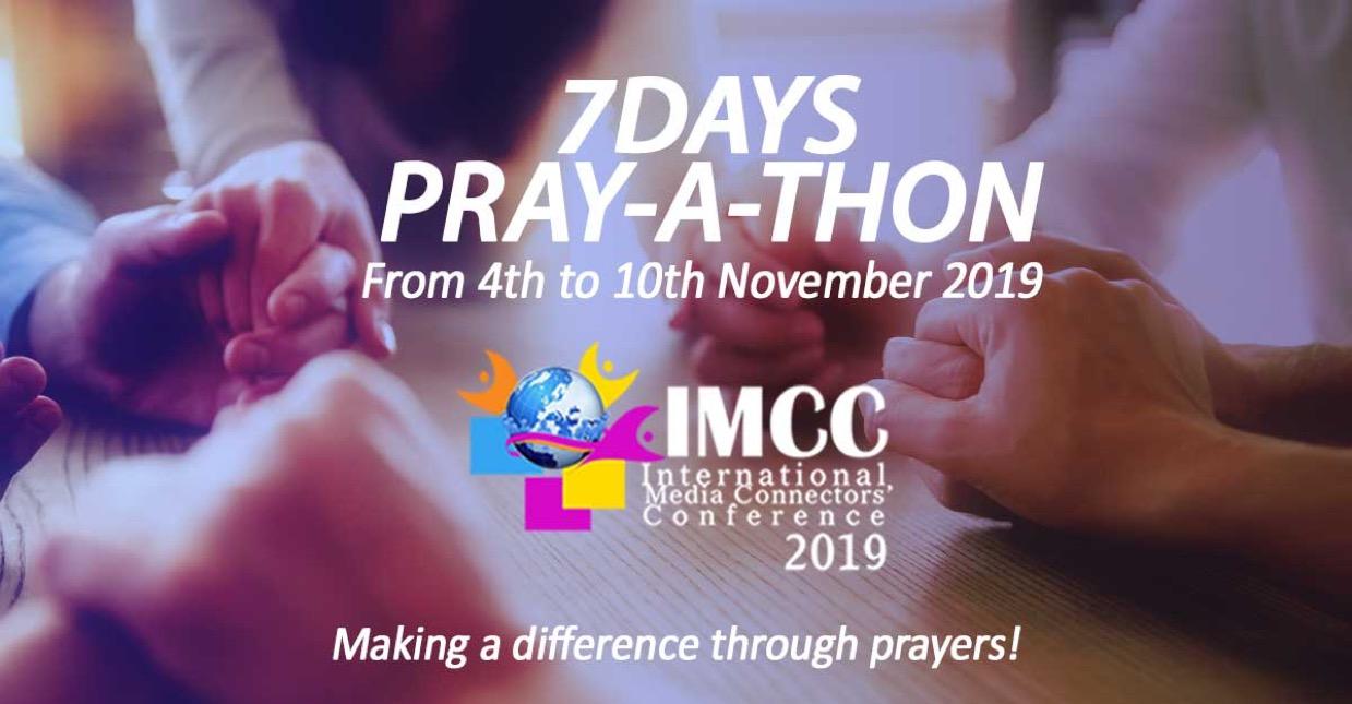 🙏🏼🙏🏼🙏🏼The 7-Day Pre-IMCC PrayAThon kicks