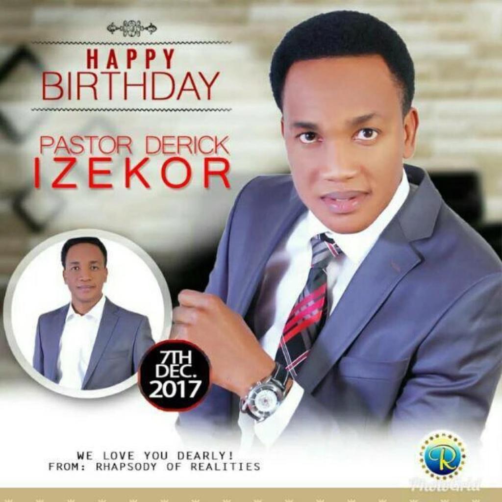 Happy Birthday Dearest Pastor Derick.
