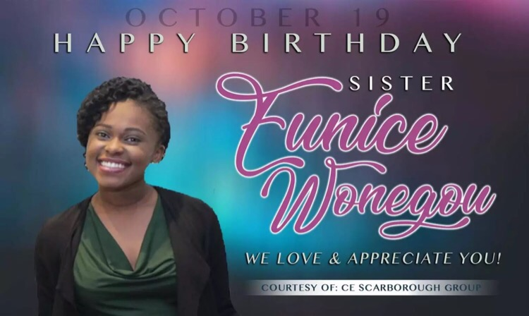 Happy birthday Sis Eunice! You