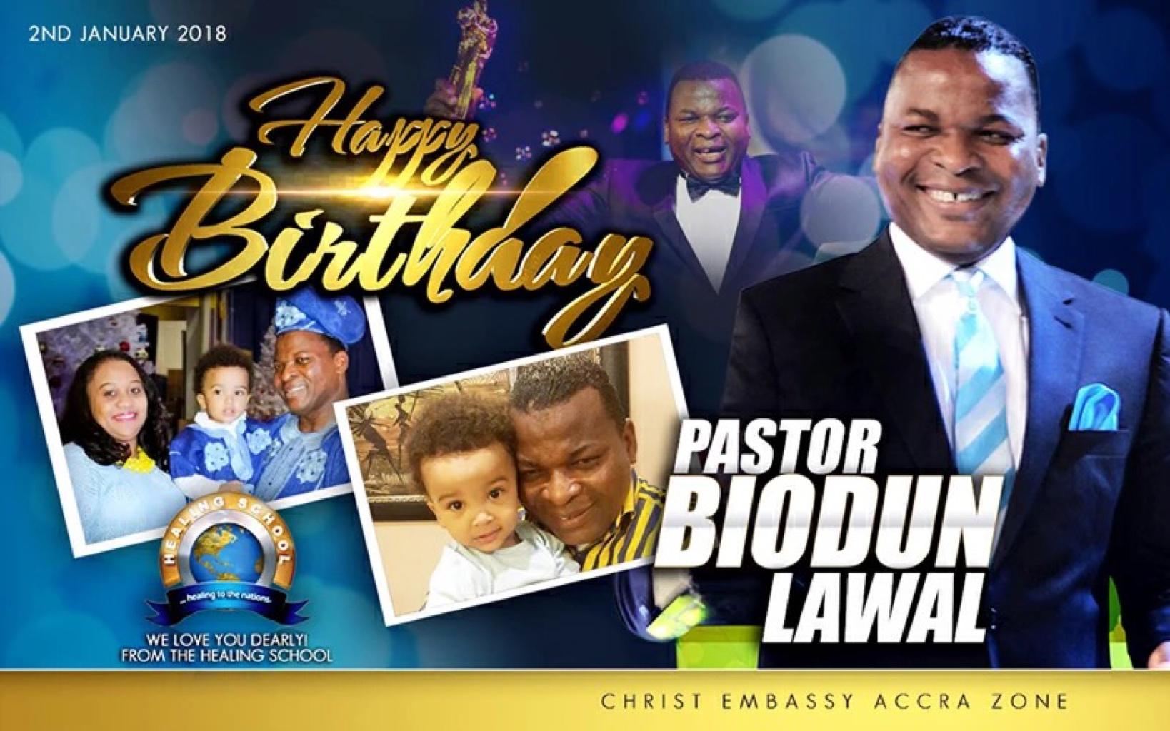 Dear Esteemed Pastor Biodun, congrats