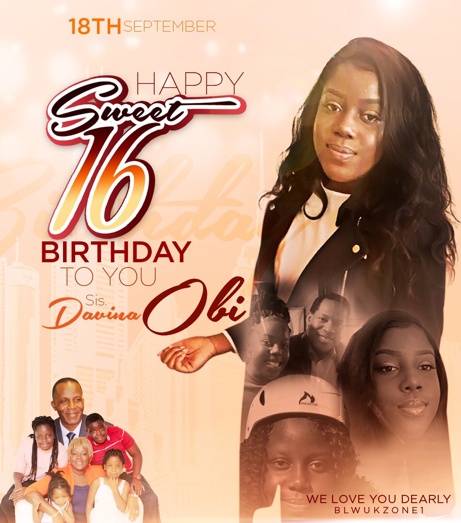 Happy Sweet 16 birthday celebrations