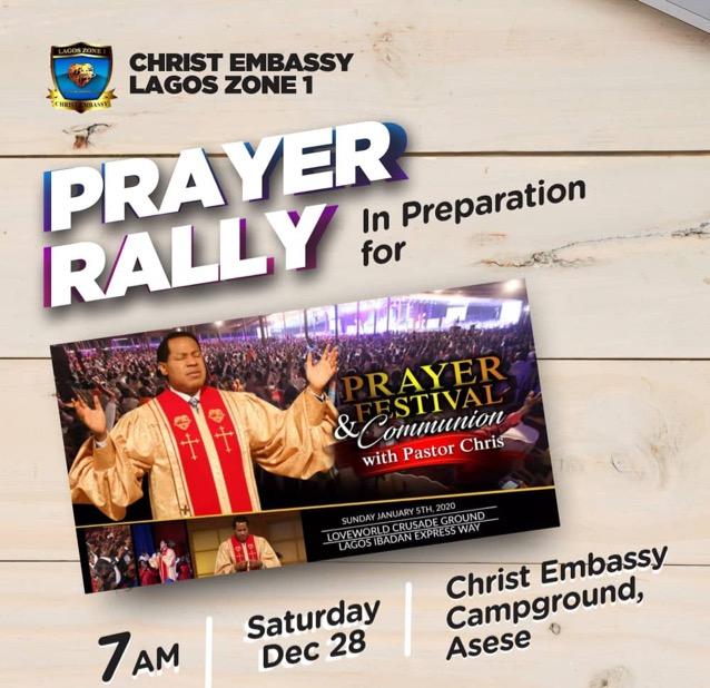 Christ Embassy Lagos Zone 1