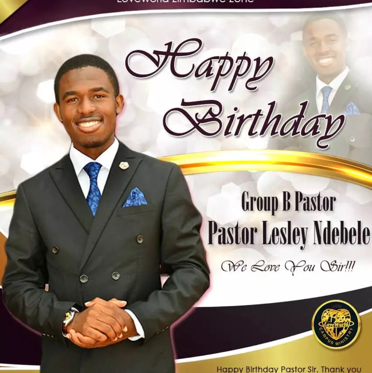 Happiest Birthday Pastor Les; a