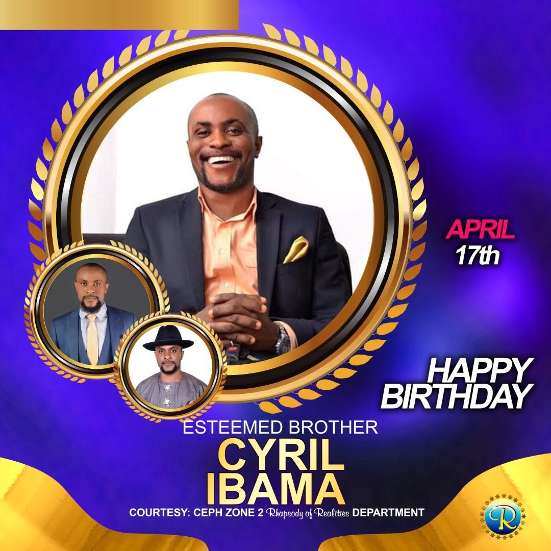 Happy Birthday 🎂🎁Bro Cyril of