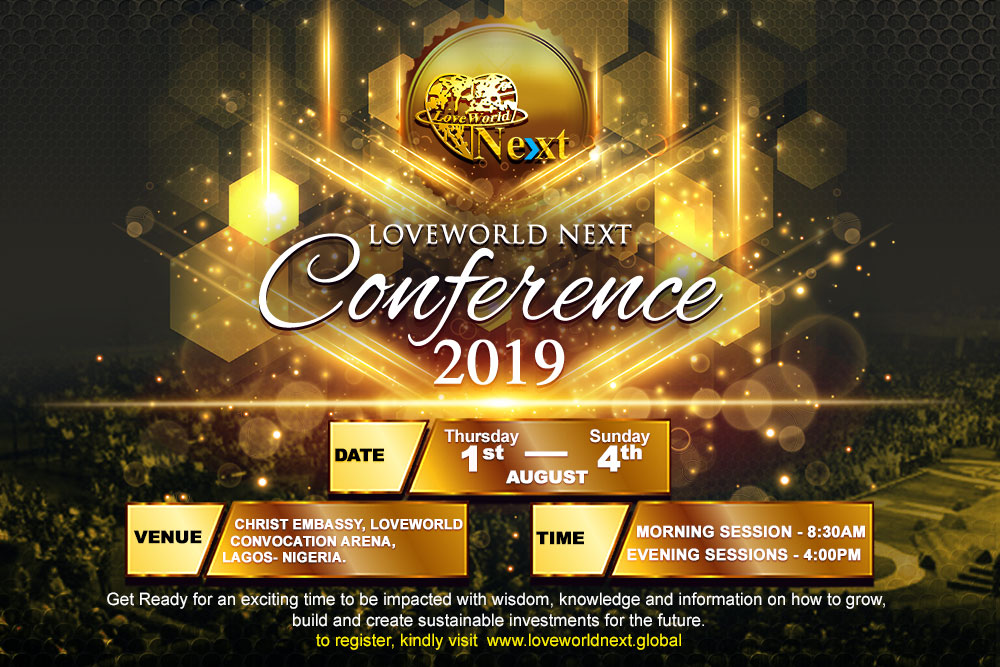 #LoveworldNextConference Confirm your registration