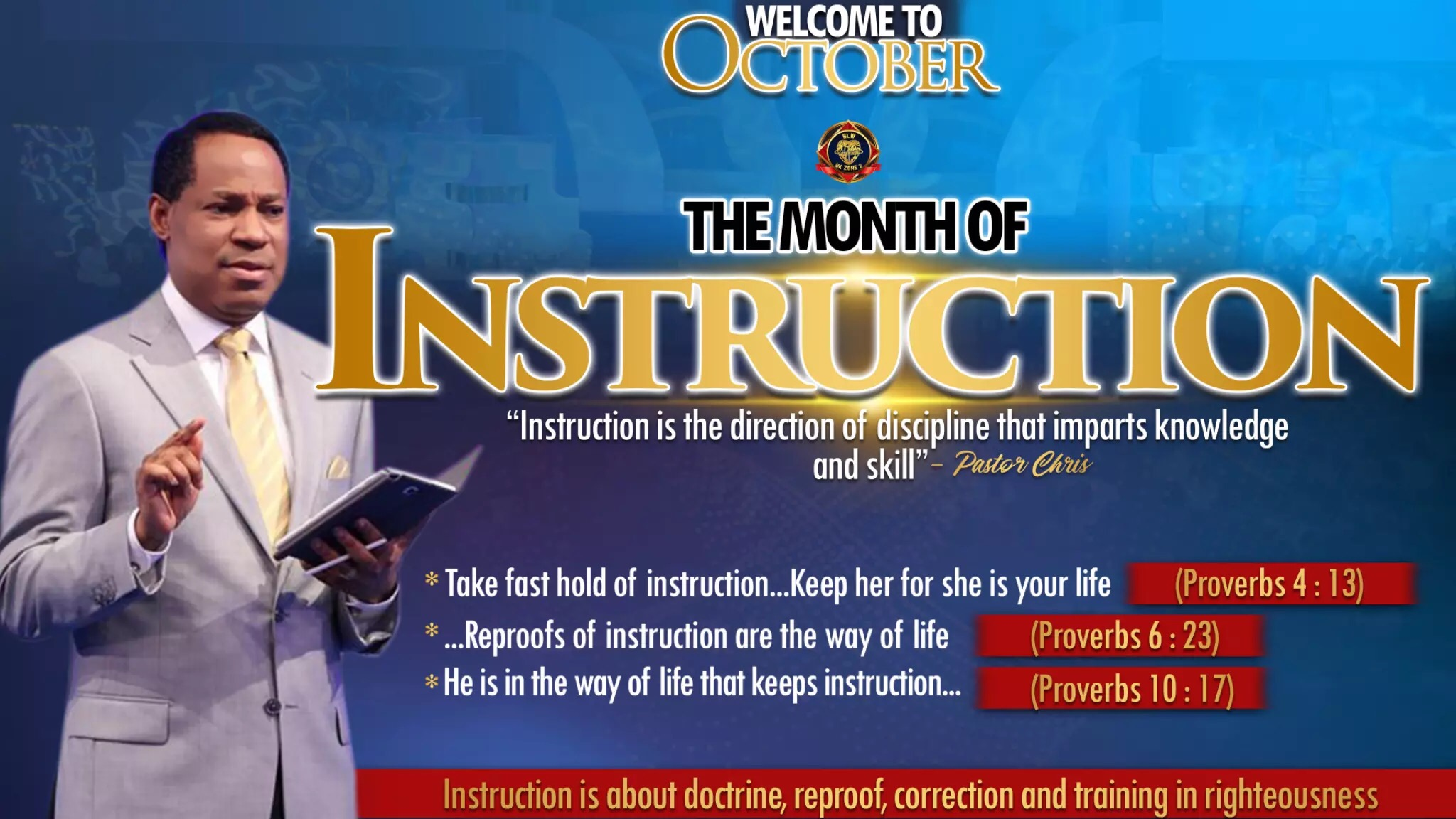 OCTOBER THE MONTH OF INSTRUCTION