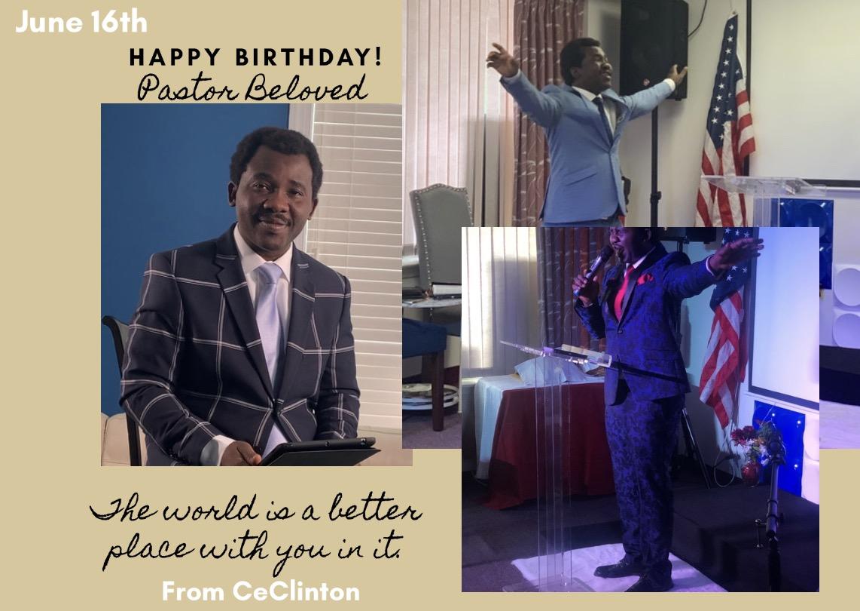 Happy Birthday to my Pastor
