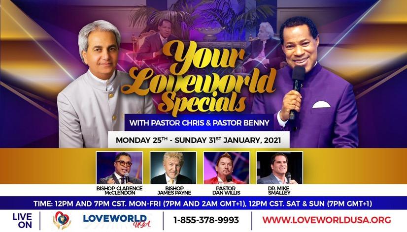 LoveWorld specials LIVE on LoveWorld