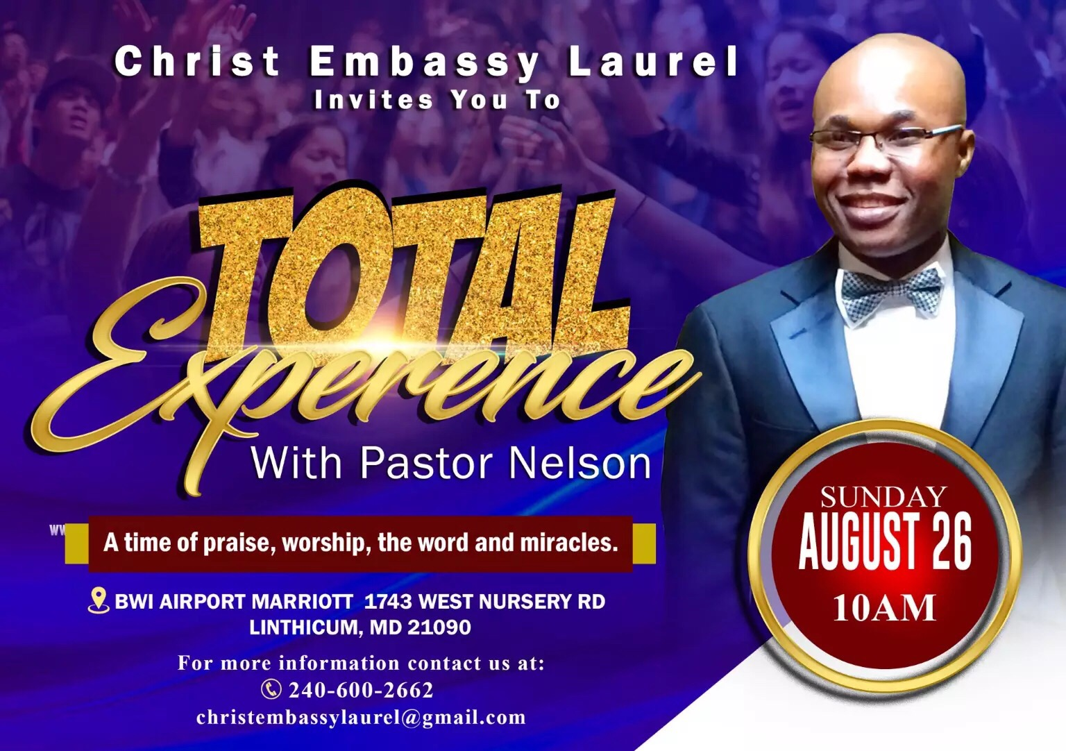 Total Experience Laurel.... With outstretched