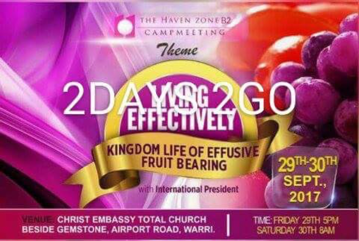 HOW READY ARE U??? #havenB2campmeeting