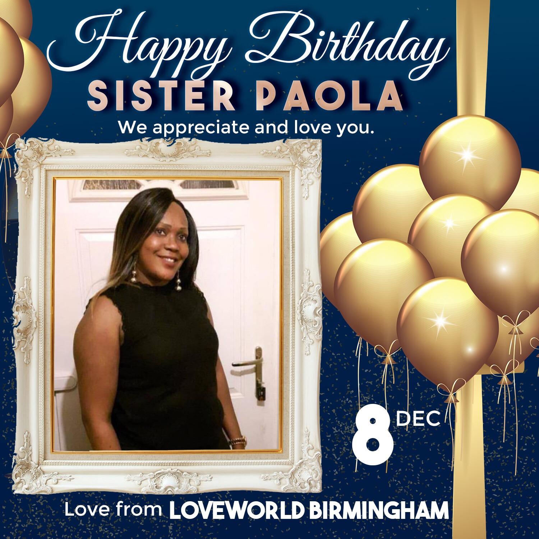 Happy Birthday Sister Paola, Many