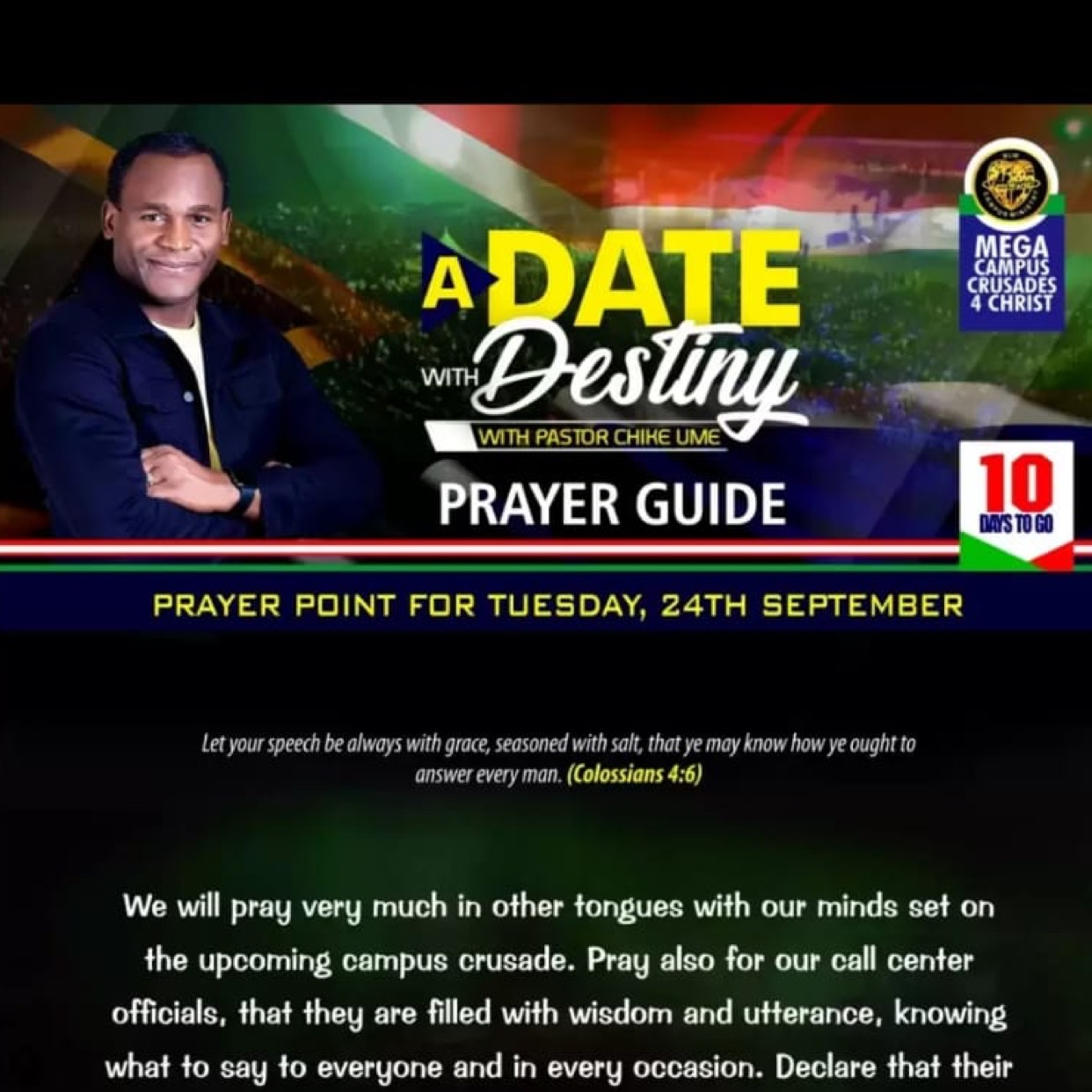 Glorious things are happening #adatewithdestiny