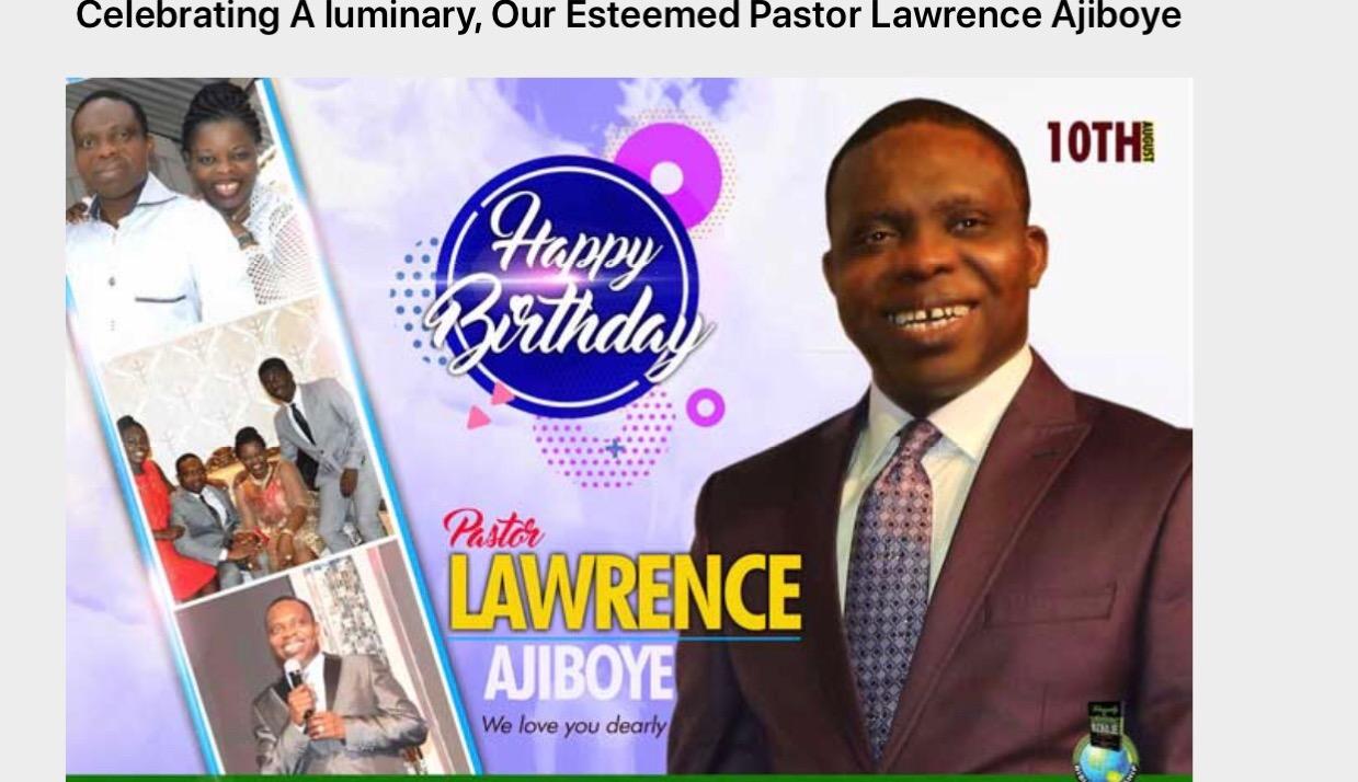 Celebrating my Zonal Pastor