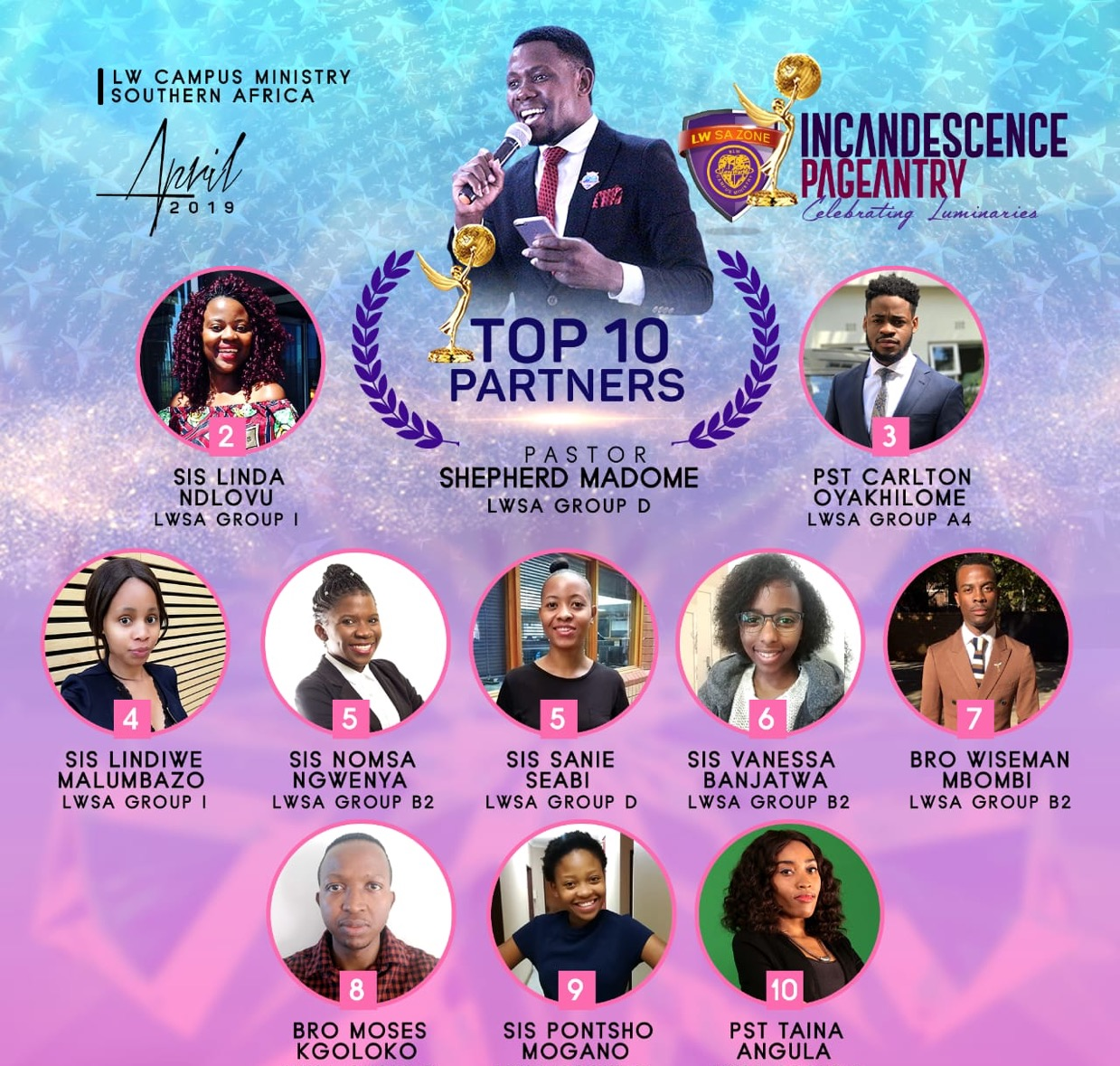 INCANDESCENCE PAGEANTRY WINNERS (APRIL EDITION)