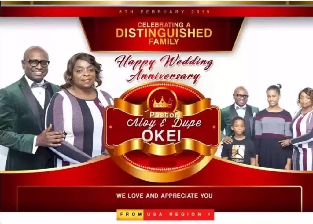 Happy wedding anniversary Pastors Dupe