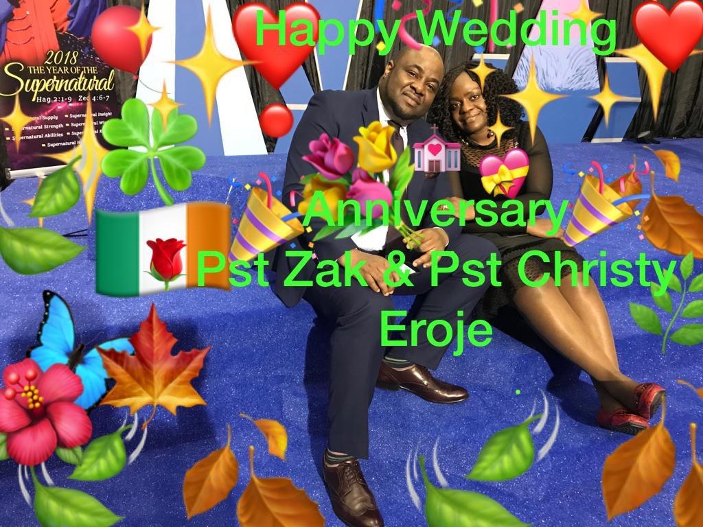 Happy Wedding Anniversary Pst Zak