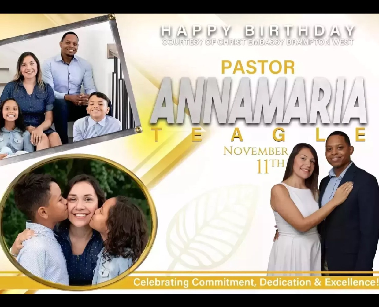 Happy Birthday Dear Pastor Annamaria.