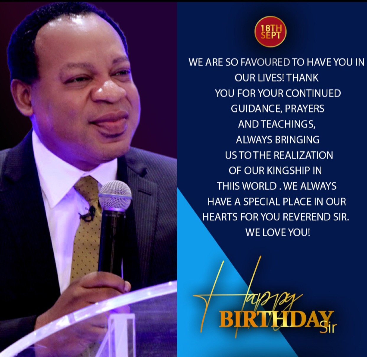 Happy Birthday Dear Rev Sir.