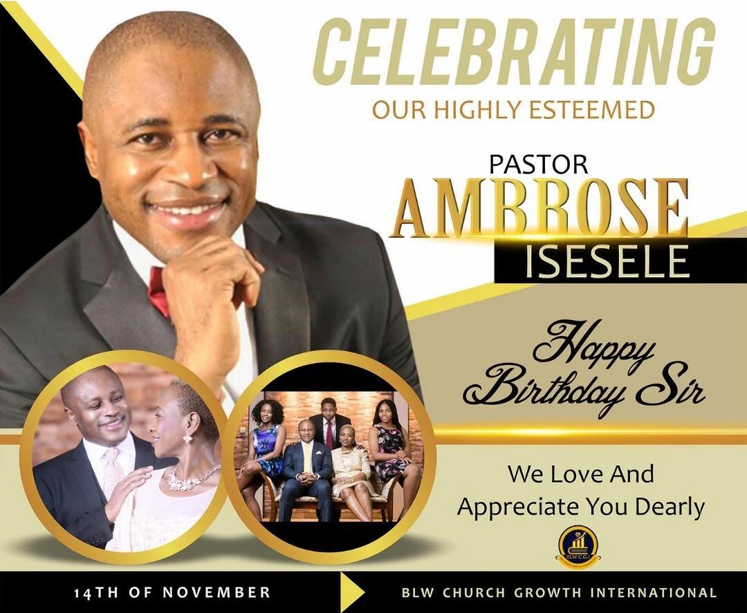 Happy supernatural Birthday Dear Pastor