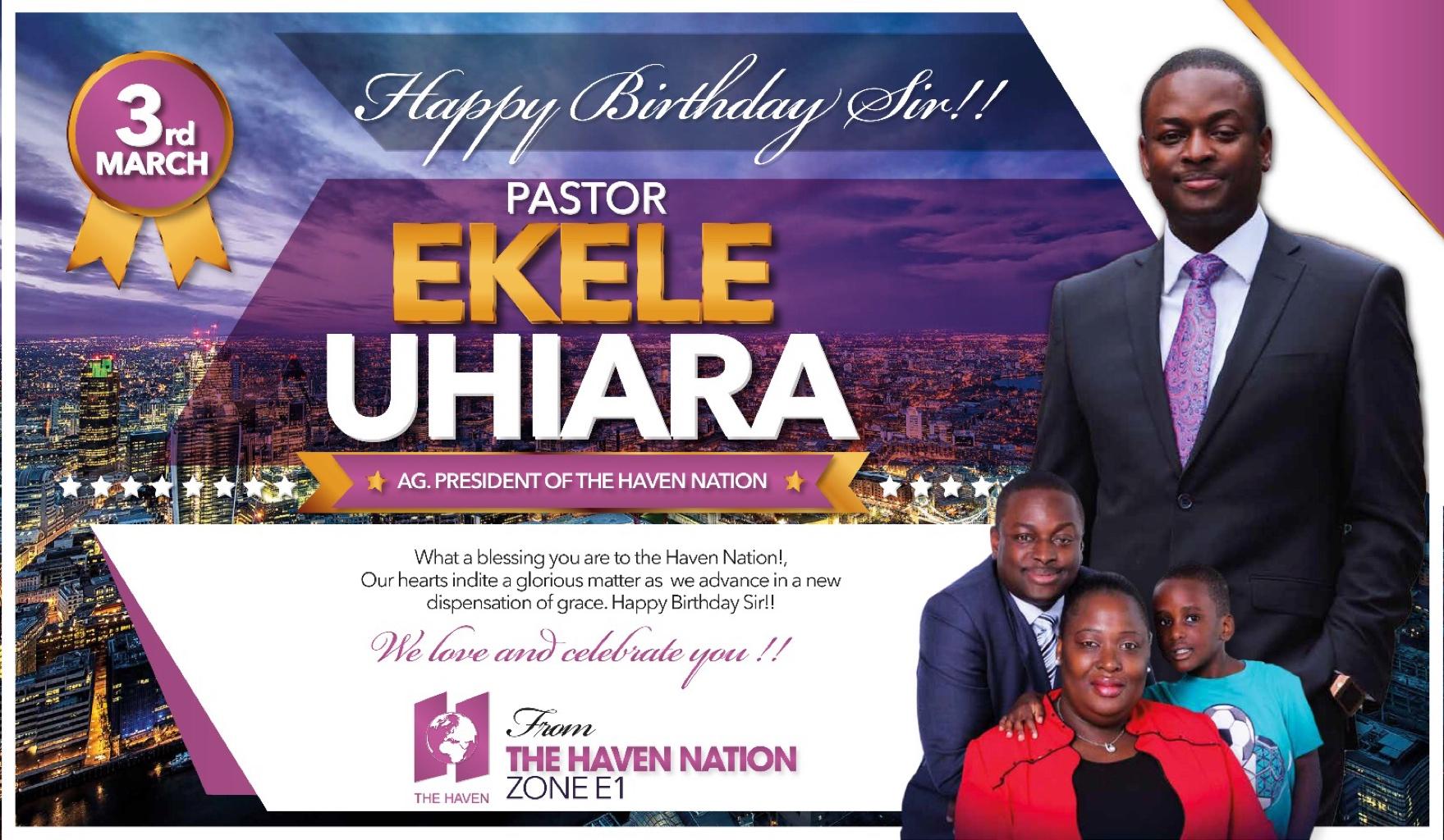 Happy birthday dear Pst Ekele,